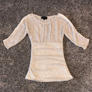 BCX Sweater Blouse with Lacy Sleeves
